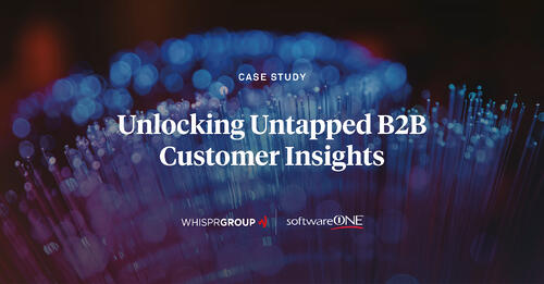 SoftwareONE tasked Whispr Group with providing insights on their hard-to-track niche target group