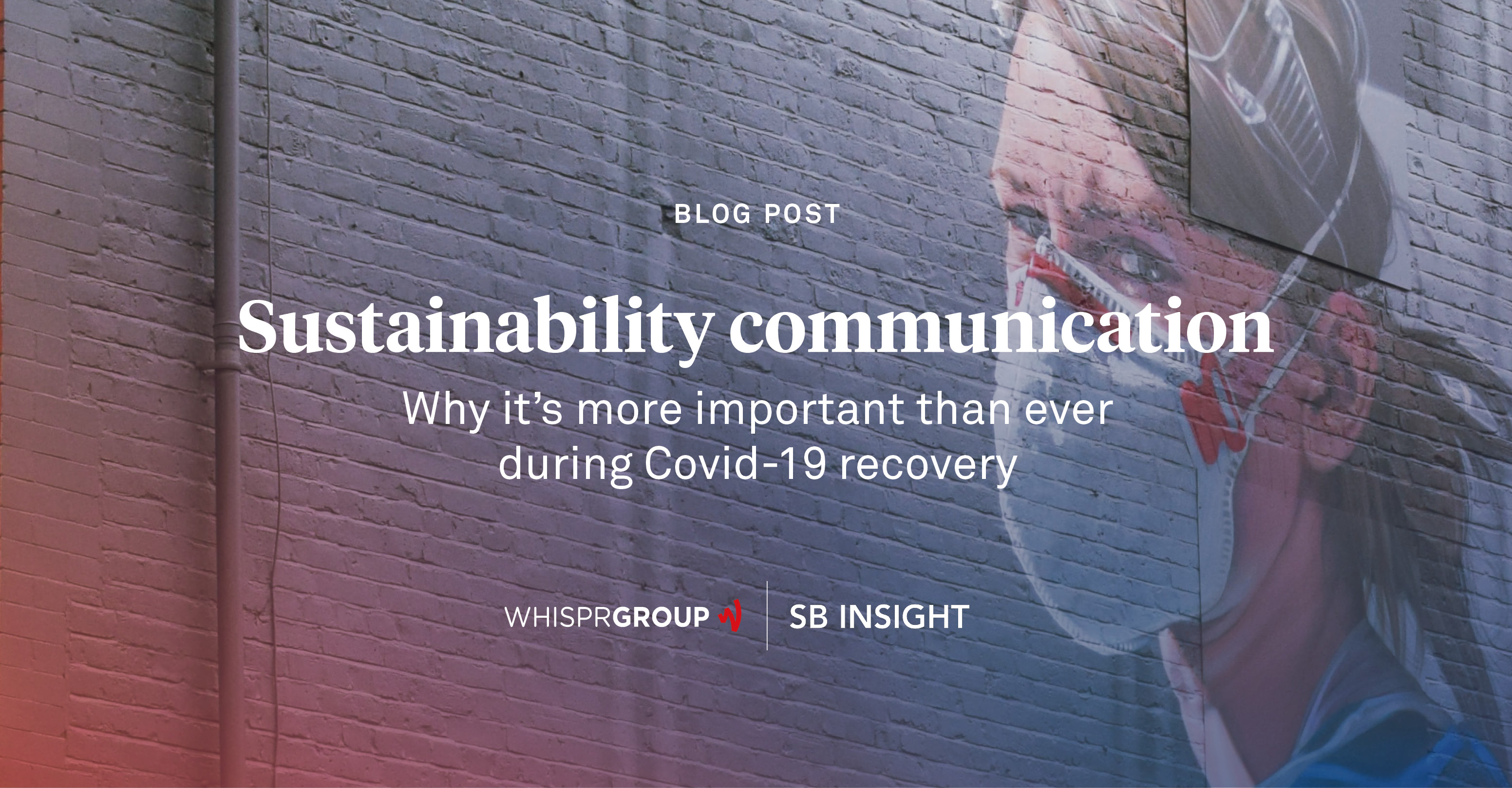 Sustainability communication is particularly challenging during the covid-19 recovery